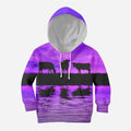 Sunset and Cow Violet Kids All Over-Apparel-HD09-Hoodie-TODDLER 2T-Vibe Cosy™
