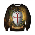 3D All Over Printed Knights Templar Shirts and Shorts-Knights Templar-RoosterArt-Sweatshirt-XS-Vibe Cosy™