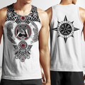 All Over Printed Viking Tattoo Shirts-Apparel-HP Arts-Men's Tank Top-S-Vibe Cosy™
