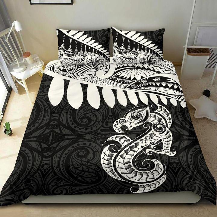 Aotearoa Bedding Set Maori Silver Fern Duvet Cover And Pillow Cases MP13072003