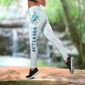 Combo Paua shell wolf tattoo tank top & leggings outfit for women-Apparel-PL8386-S-S-Vibe Cosy™