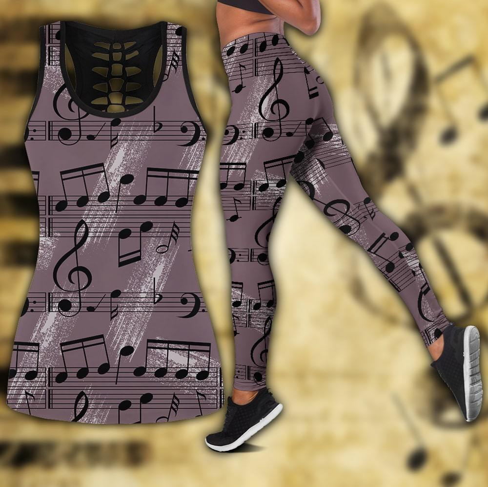 Musical Notes Combo Tank + Legging-Apparel-HP Arts-S-S-Vibe Cosy™