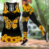 Beautiful Butterfly Faith Combo Legging + Tank Top Mockup leggings+Hollow out Tank Top JJW12092001
