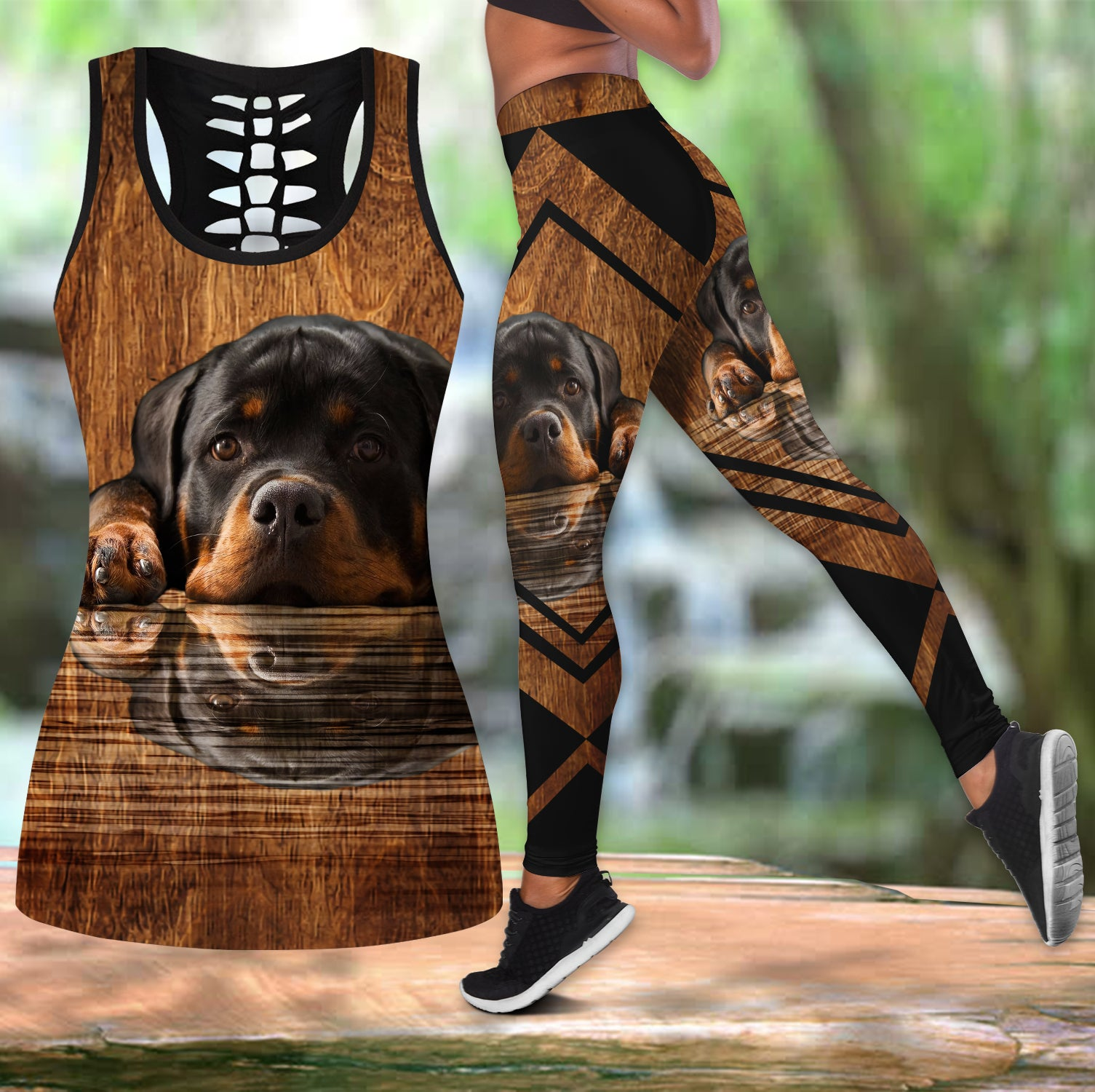 Rottweiler leggings + hollow tank combo HAC160701S4-HG-Apparel-HG-S-S-Vibe Cosy™