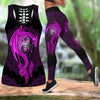 Mandala Purple Dragon Tattoo Art Combo Tank + Legging HAC070505-Apparel-NM-S-S-Vibe Cosy™