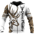 Deer Hunter Tattoo 3D DC006-Apparel-DC-Zipped Hoodie-S-Vibe Cosy™