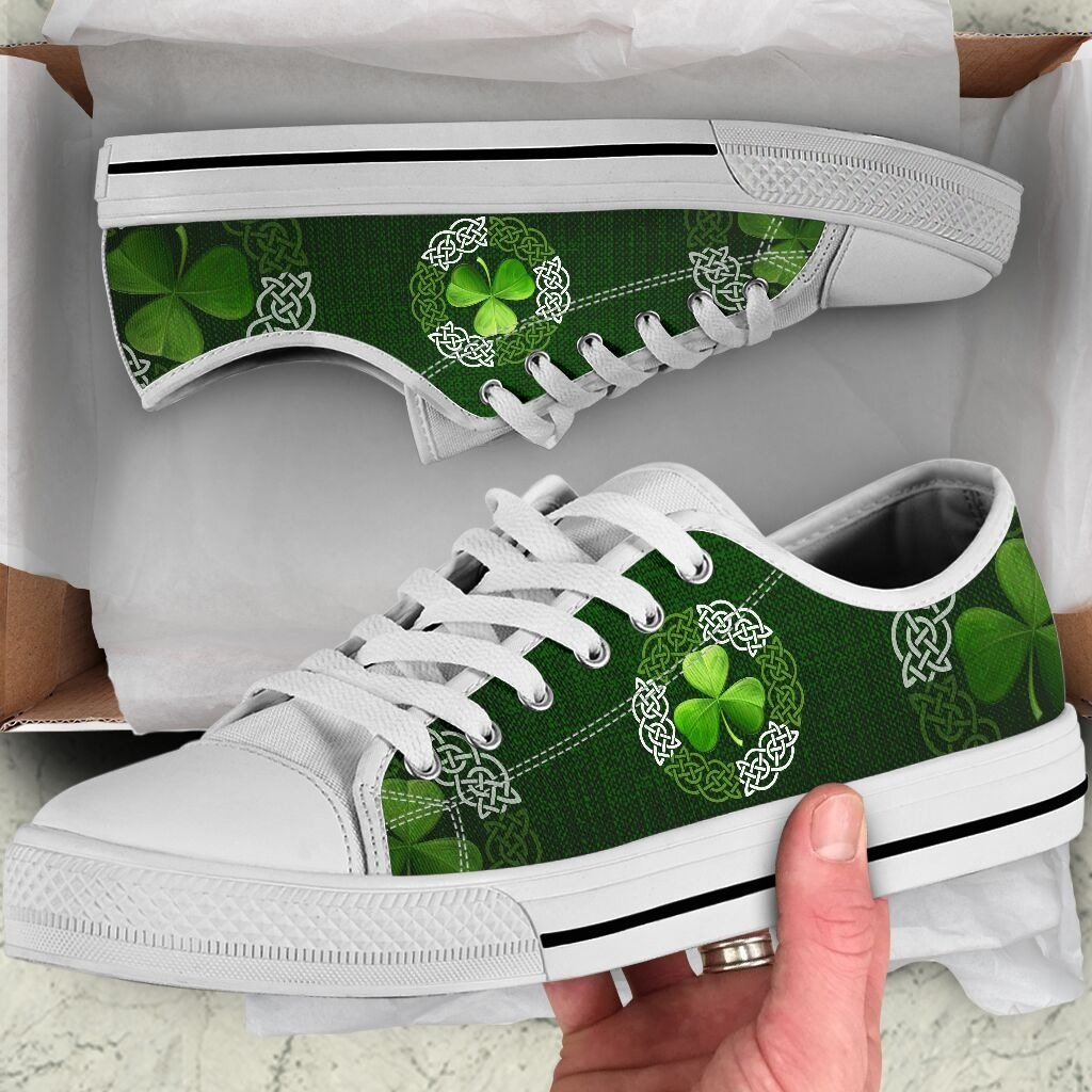 Irish Saint Patrick's Day Shamrock Low Top Shoes NM030304-Apparel-NM-US5 (EU35)-Vibe Cosy™