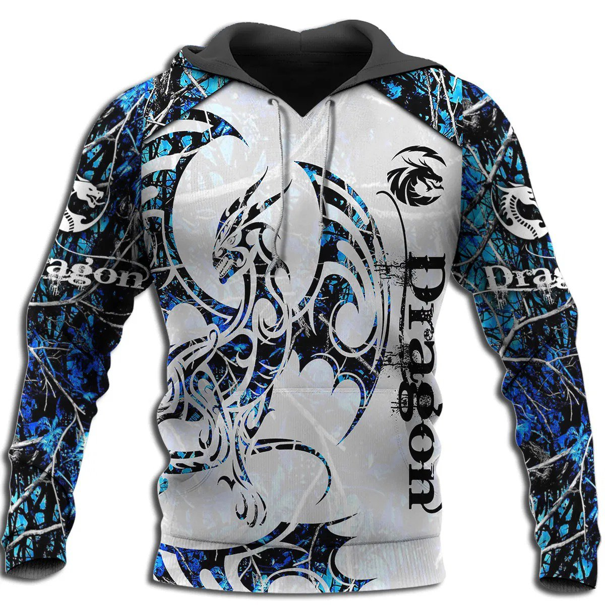 3D Tattoo and Dungeon Dragon Hoodie T Shirt For Men and Women NM050945-Apparel-NM-Hoodie-S-Vibe Cosy™