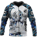 3D Tattoo and Dungeon Dragon Hoodie T Shirt For Men and Women NM050945-Apparel-NM-Zipped Hoodie-S-Vibe Cosy™