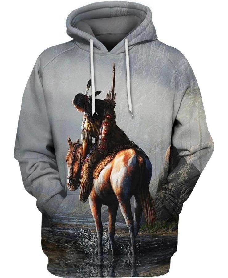 3D All Over Print Horse Hoodie NM120802-Apparel-NM-Hoodie-S-Vibe Cosy™