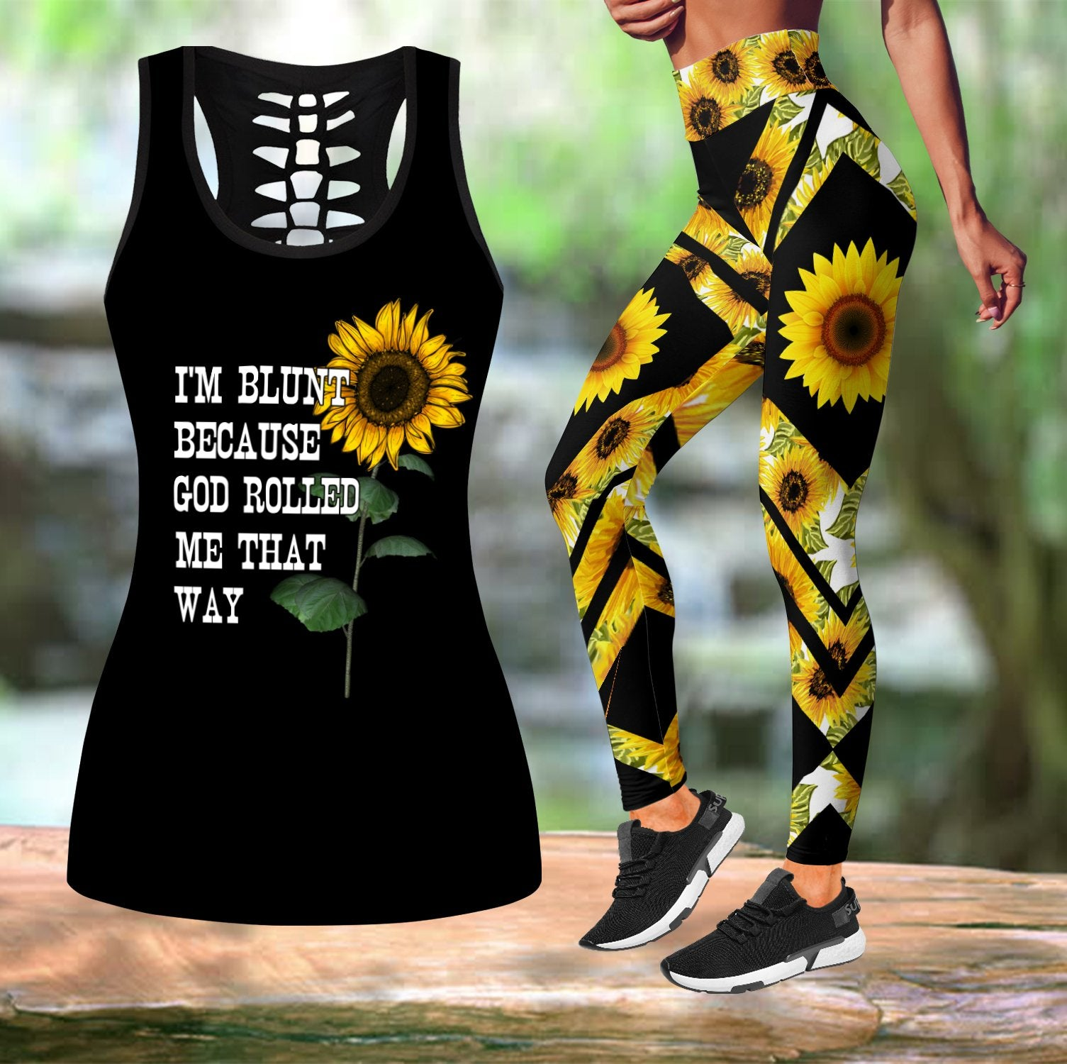Sunflower Combo Tank + Legging NNK030914-Apparel-NNK-S-S-Vibe Cosy™