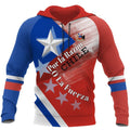 Chile Flag With Coat of Arms Design Hoodie NNK 100-Apparel-NNK-Hoodie-S-Vibe Cosy™