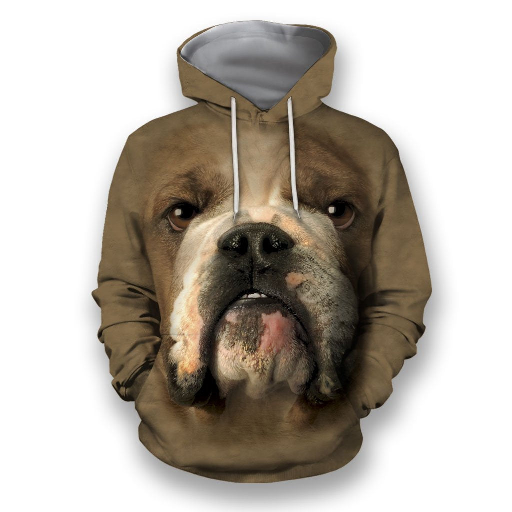 3D All Over Print Bulldog Face-Apparel-NTT-Hoodie-S-Vibe Cosy™