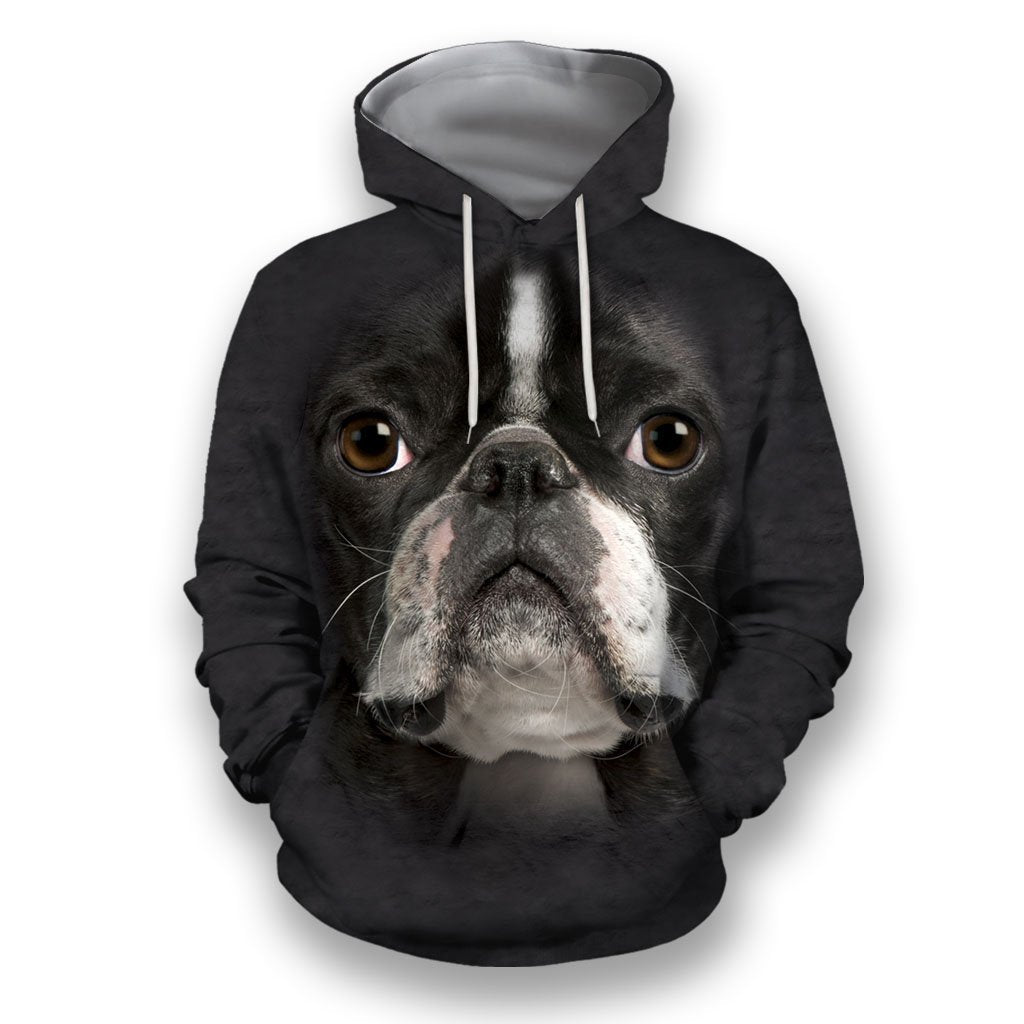 3D All Over Print Boston Terrier Face-Apparel-NTT-Hoodie-S-Vibe Cosy™