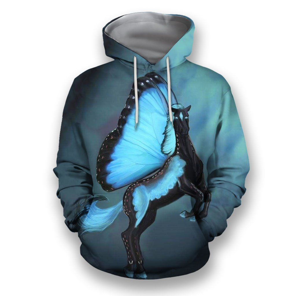 3D All Over Print Butterfly Horse-Apparel-NTT-Hoodie-S-Vibe Cosy™