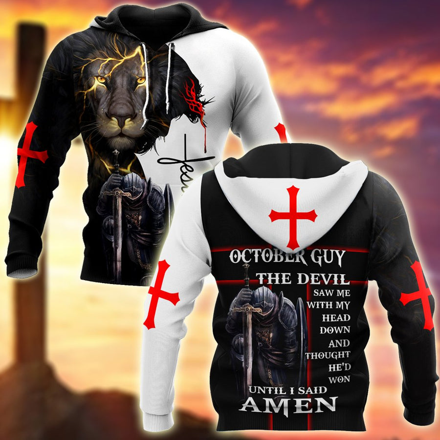 October Guy- Untill I Said Amen 3D All Over Printed Shirts For Men and Women Pi250501S10-Apparel-TA-Hoodie-S-Vibe Cosy™