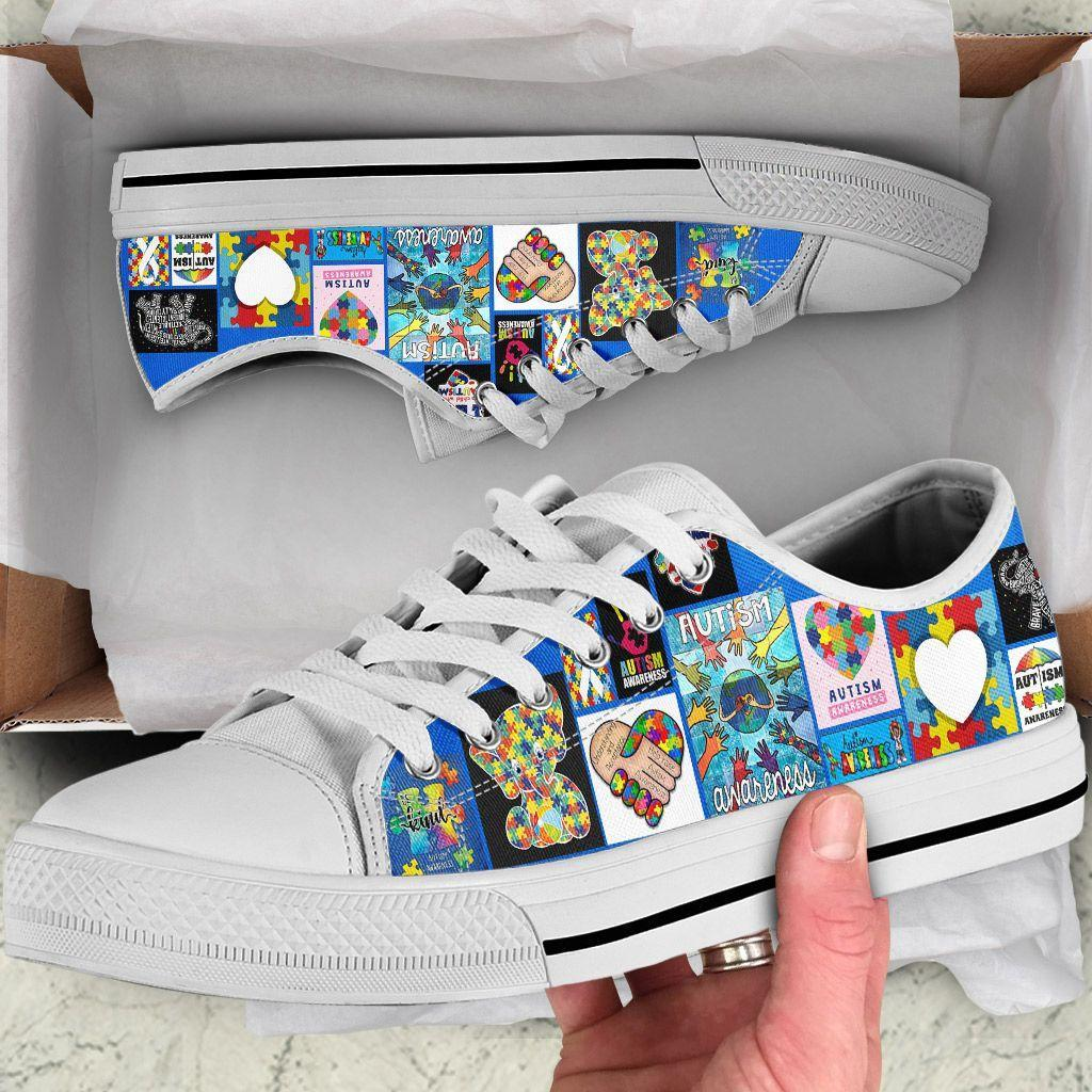 Autism Awareness Low Top Shoes NHT240201-zpod-EU36 (US6)-Vibe Cosy™
