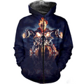 3D ALL OVER PRINTED SKULL PL287-Apparel-PL8386-Zipped Hoodie-S-Vibe Cosy™