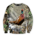All Over Printed Pheasant Hunting Camo Shirts-Apparel-HbArts-Sweatshirt-S-Vibe Cosy™