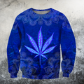 Hippie Royal Blue 3D All Over Printed Hoodie Shirt by SUN HAC280303-Apparel-SUN-Sweatshirts-S-Vibe Cosy™