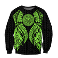 Amazing Polynesian Tattoo Green Hoodie-ML-Apparel-ML-SweatShirts-S-Vibe Cosy™