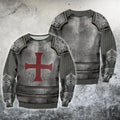 3D All Over Printed Knights Templar Tops-Apparel-HP Arts-Sweatshirt-S-Vibe Cosy™