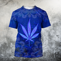 Hippie Royal Blue 3D All Over Printed Hoodie Shirt by SUN HAC280303-Apparel-SUN-T-Shirt-S-Vibe Cosy™