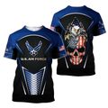 US AirForce skull 3d all over printed for man and women Pi270202 PL-Apparel-PL8386-T-Shirt-S-Vibe Cosy™