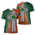 Irish Saint Patrick's Day Shamrock Celtic Cross Hoodie T-Shirt Sweatshirt-Apparel-NM-T-shirt-S-Vibe Cosy™