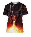 3D All Over Print Dragon With Fire Shirts-Apparel-Phaethon-T-Shirt-S-Vibe Cosy™