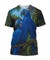 3D All Over Print Blue Parrot Love Hoodie-Apparel-PHL-T-Shirt-S-Vibe Cosy™