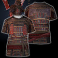 3D All Over Printed Samurai Armor Tops For Men-Apparel-HP Arts-T-Shirt-S-Vibe Cosy™