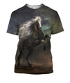 3D All Over Print Black Horse In The Dark Shirts-Apparel-Phaethon-T-Shirt-S-Vibe Cosy™