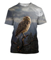 3D All Over Print Owl Drinking Coffee Shirts-Apparel-Phaethon-T-Shirt-S-Vibe Cosy™