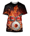 3D All Over Print Drum Shirts HG-Apparel-HG-T-Shirt-S-Vibe Cosy™