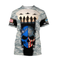 US Air Force skull 3d all over printed for man and women Pi270203 PL-Apparel-PL8386-T-Shirt-S-Vibe Cosy™