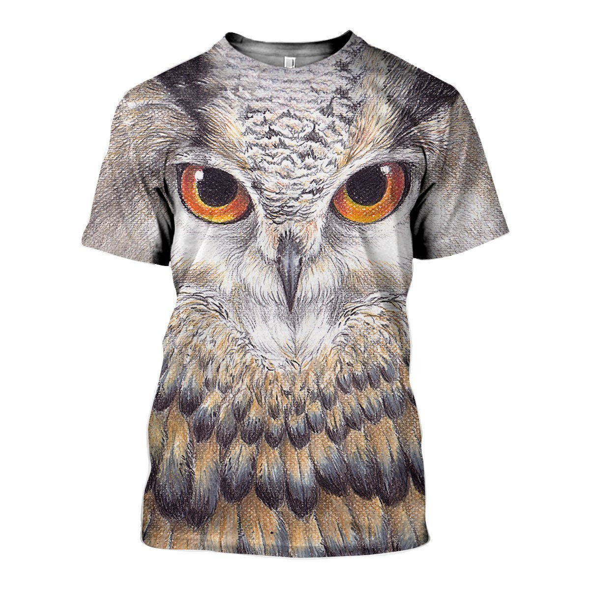 3D All Over Printed Owl Art Shirts-Apparel-HP Arts-T-Shirt-S-Vibe Cosy™