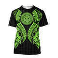Amazing Polynesian Tattoo Green Hoodie-ML-Apparel-ML-T-Shirt-S-Vibe Cosy™