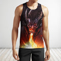 3D All Over Print Dragon With Fire Shirts-Apparel-Phaethon-Tank Top-S-Vibe Cosy™