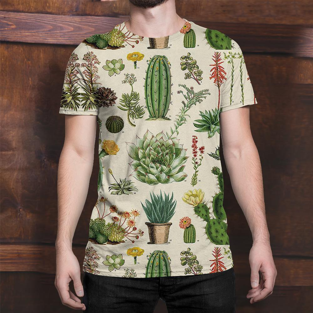 3D All Over Print Cacti Shirt-Apparel-NTH-T-Shirt-S-Vibe Cosy™