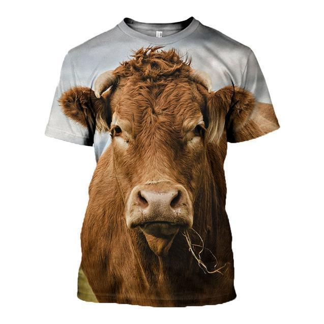 3D All Over Printed Cow-Apparel-HP Arts-T-Shirt-S-Vibe Cosy™