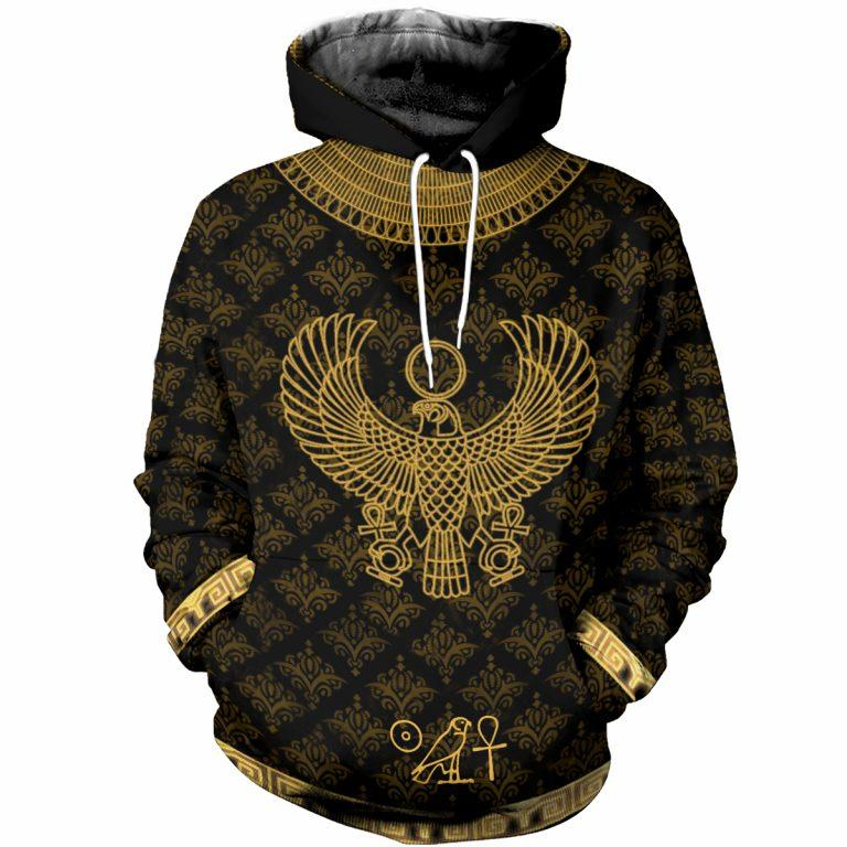 3D All Over Printed Egyptian Horus God Clothes-Apparel-MP-Hoodie-S-Vibe Cosy™