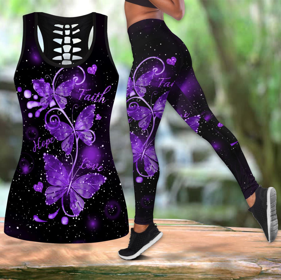 Beautiful Butterfly Combo Tank + Legging TR090402A - Amaze Style™-Apparel