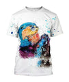 3D All Over Printed Otter T-shirt Hoodie-Apparel-HP Arts-T-Shirt-S-Vibe Cosy™