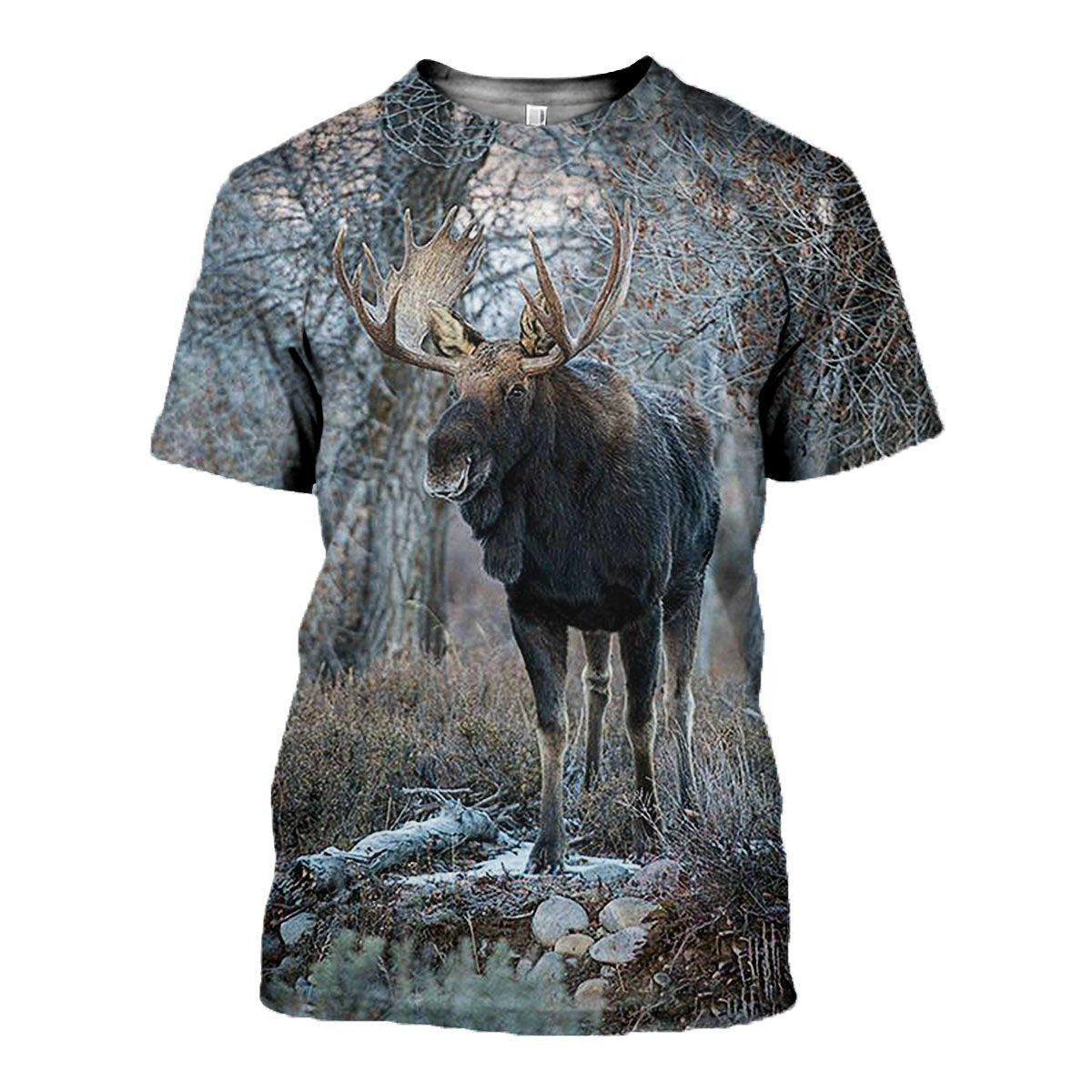 3D All Over Printed Moose Hunting Shirts-Apparel-6teenth World-T-Shirt-S-Vibe Cosy™