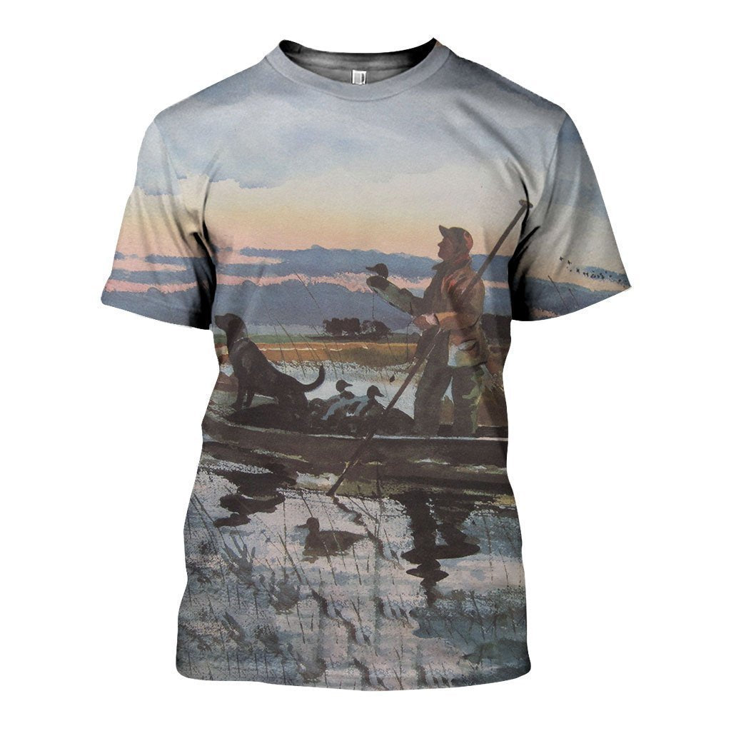 3D All Over Printed Hunting Duck Shirts-Apparel-6teenth World-T-Shirt-S-Vibe Cosy™