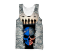 US Air Force skull 3d all over printed for man and women Pi270203 PL-Apparel-PL8386-Tank top-S-Vibe Cosy™