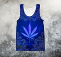 Hippie Royal Blue 3D All Over Printed Hoodie Shirt by SUN HAC280303-Apparel-SUN-Tank top-S-Vibe Cosy™