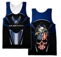 US AirForce skull 3d all over printed for man and women Pi270202 PL-Apparel-PL8386-Tank top-S-Vibe Cosy™