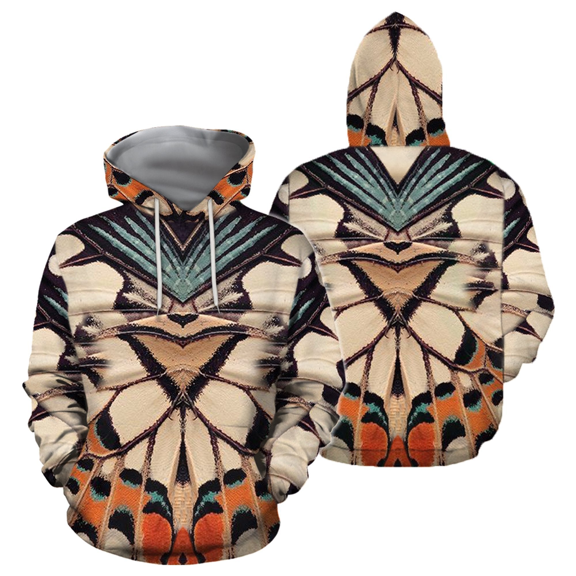 3D All Over Print Colorful Butterflies Hoodie-Apparel-Khanh Arts-Hoodie-S-Vibe Cosy™